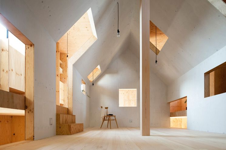 Un sorprendente interior de madera casa ant house for Minimalist house in japan